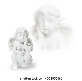 Angel, heart, feather