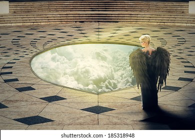 Angel at the hole of Heaven