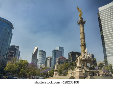 The Angel of Independence in Paseo de la Reforma Avenue, Mexico City
