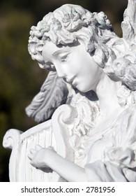 angel playing a harp
