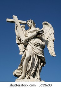 An angel of the sant'angelo bridge in Rome