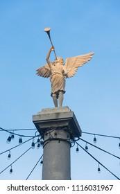 Angel Statue blowing trumpet