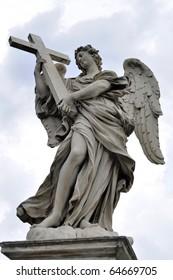 Angel statue on Ponte Sant'angelo, Rome, Italy