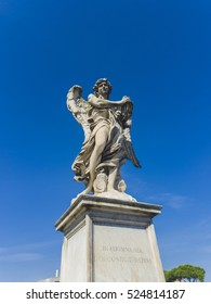 Angel statue at Sant Angelo Bridge in Rome, Italy