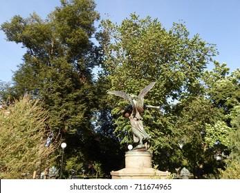 Angel of the Waters Sculpture or George Robert White Memorial, Boston Public Garden, Boston, Massachusetts, USA