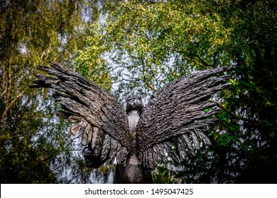 Angel wings made of stone