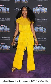 Angela Bassett at the World premiere of Marvel's 'Black Panther' held at the El Capitan Theatre in Hollywood, USA on January 29, 2018.