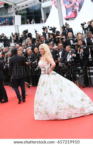 19b9aed24a6 Angela Ismailos attends  Amant Double (L Amant Double )  Red Carpet Arrivals  during the 70th annual Cannes Film Festival at Palais des Festivals on May  26