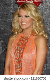 .LOS ANGELES - DEC 10:  Carrie Underwood arrives to the American Country Awards 2012 at Mandalay Bay Resort and Casino on December 10, 2012 in Las Vegas, NV