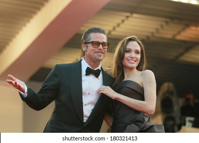 Angelina Jolie and Brad Pitt attend the 'The Tree Of Life' premiere during the 64th Annual Cannes Film Festival at Palais des Festivals on May 16, 2011 in Cannes, France.