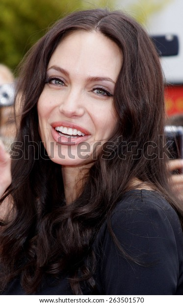 """Angelina Jolie at the Los Angeles Premiere of """"Secrets of the Furious Five""""  held at the Grauman's Chinese Theater, California, United States on November 9, 2008."""