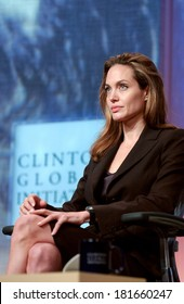 Angelina Jolie at the press conference for The Third Annual Clinton Global Initiative Summit, Manhattan, New York, NY, September 26, 2007