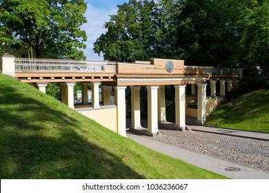 The Angel's Bridge on Toome Hill Park in Tartu, Estonia