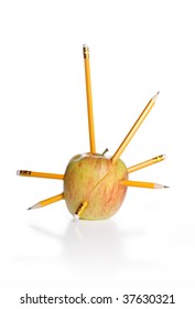 Anger - pencils in a apple