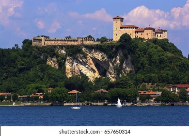 Angera's castle on the rock