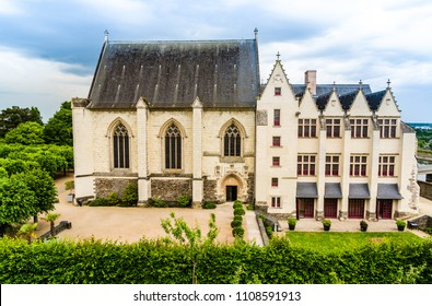 Angers, France: The Chapel inside Castle of Angers, founded in 9th century by the Counts of Anjou, a historical monument since 1875, located overhanging the river Maine.