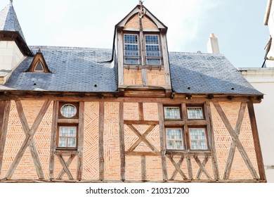 ANGERS, FRANCE - JULY 28, 2014: Maison dite de la Tour on Rue Saint-Aignan in Anges, France. Angers is city in western France and it is the historical capital of the province of Anjou