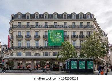 ANGERS, FRANCE - OCTOBER 24, 2020. The largest department store in Paris, also in the center of Angers.