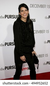Angie Harmon at the Los Angeles premiere of 'The Pursuit of Happyness' held at the Mann Village Theater in Westwood, USA on December 7, 2006.