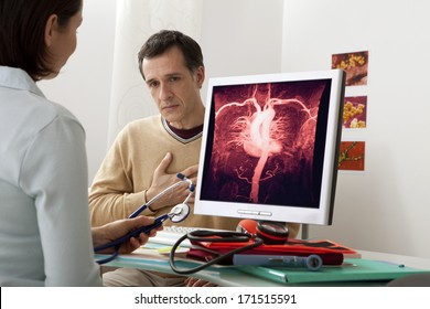 Angiology Consultation Man