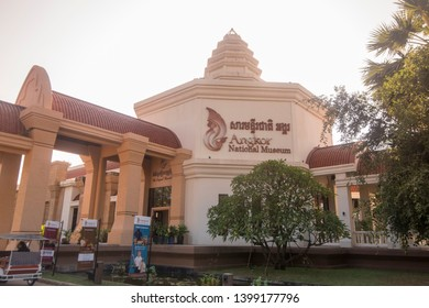 the Angkor National Museum in the city of Siem Reap in northwest of Cambodia.   Siem Reap, Cambodia, November 2018