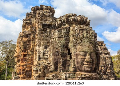 Angkor Thom Buddhist Temple. Angkor Archaeological Park, Cambodia