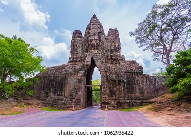 Angkor Thom located in present-day Cambodia, was the last and most enduring capital city of the Khmer empire.
