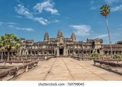 Angkor Wat is a 12th century Hindu temple and a world famous UNESCO World Heritage site in Siem Reap, Cambodia