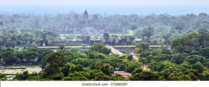 Angkor Wat aerial view, Siem Reap, Cambodia