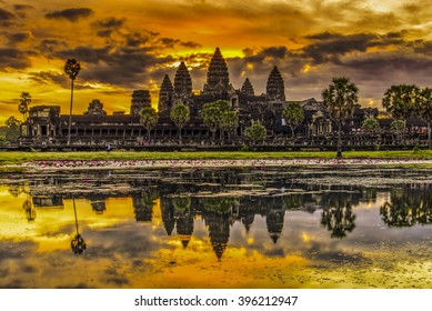 Angkor Wat in Cambodia during sunrise