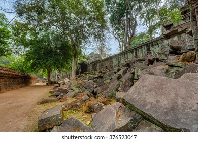 Angkor Wat Cambodia. Ta Prohm Khmer ancient Buddhist temple.