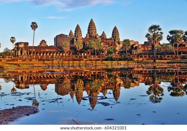 Angkor Wat Capital Temple Temple Complex Stock Photo (Edit