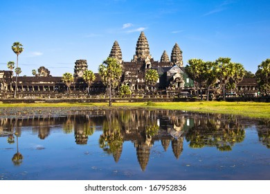 Angkor Wat seen across the lake