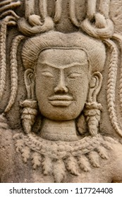 Angkor wat Stone statue, Siem reap,Cambodia, was inscribed on the UNESCO World Heritage List in 1992.