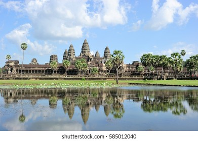The Angkor Wat in a sunny day, Siem Reap, Cambodia