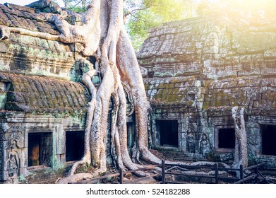 Angkor wat temple in Cambodia.  Ancient temple