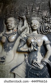 The Angkor Wat in the Temple City of Angkor near the City of Siem Riep in the west of Cambodia.