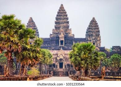 Angkor Wat temple complex, Siem Reap, Cambodia.