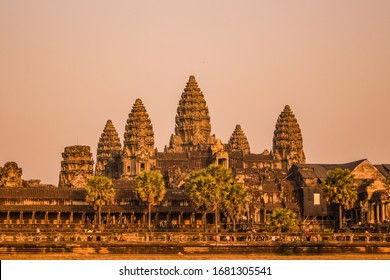 Angkor Wat temple Siem Reap Cambodia in Nature