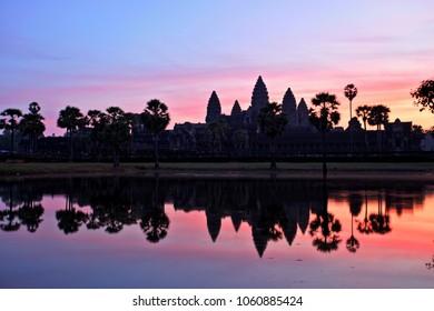 Angkor Wat Temple at Sunrise, Temples of Angkor, Cambodia