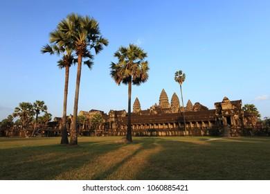Angkor Wat Temple at Sunset, Temples of Angkor, Cambodia