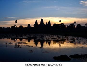 Angkor Watt at sunrise Cambodia
