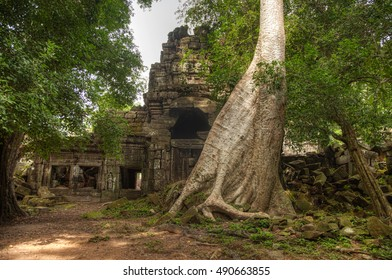 Angkorian temple in the jungle