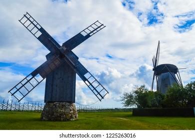 The Angla Windmills of Saaremaa island, Estonia