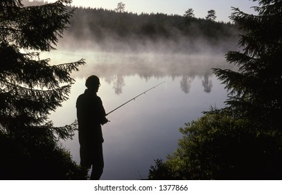 Angler in Bærum in Norway