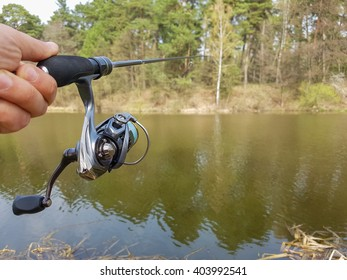 Angler with spinning