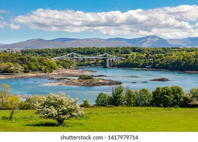 AngleseyWalesMay 12, 2019The Menai Bridge, across the Menai Strait, built by Thomas Telford in 1826