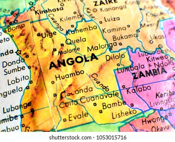 Angola map images stock photos vectors shutterstock angola africa isolated focus macro shot on globe map for travel blogs social media gumiabroncs Choice Image