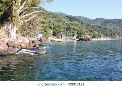 Angra dos Reis, Brazil, August 17, 2016: Ilha Grande located in South of Rio de Janeiro. Big Island has over 100 crystalline water beaches known as the Brazilian Caribbean.