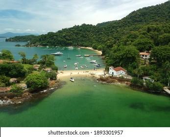 `Angra dos Reis, RJ, Brazil - January 5th 2021: Ilha Grande - Aerial photography - drone